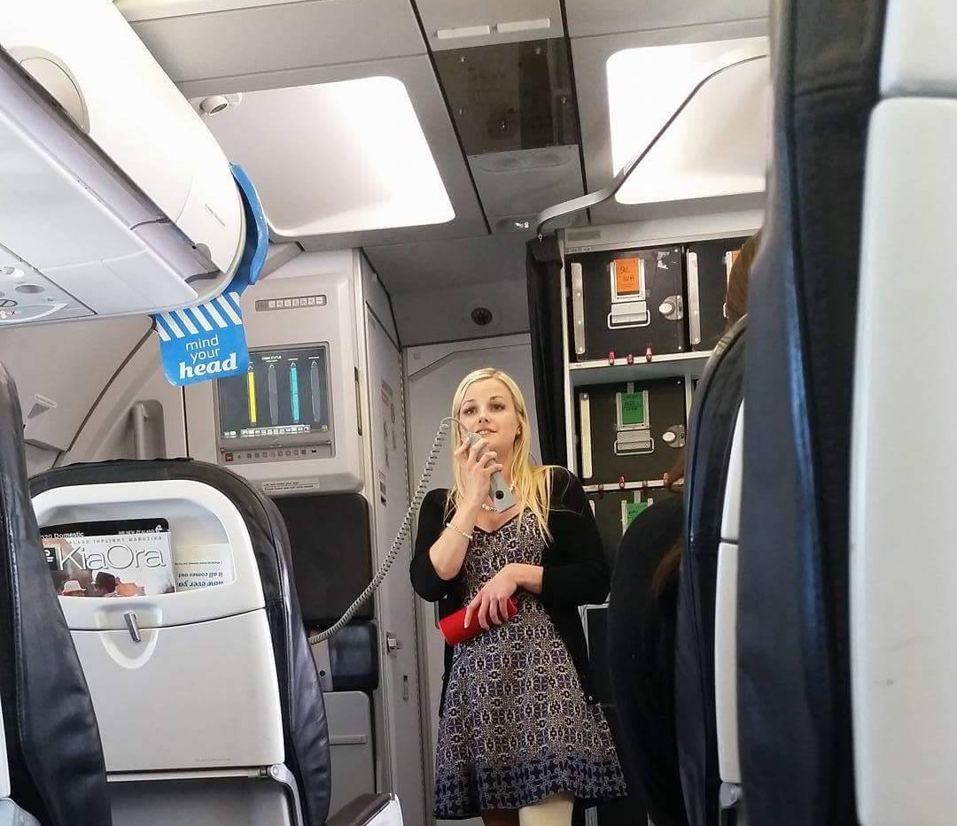 Singing on an Air New Zealand flight - Christmas Day