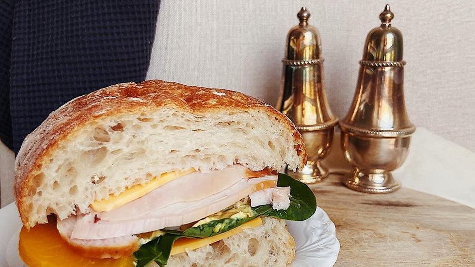 Сэндвич с курицей карри