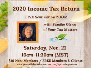 2020 Income Tax Return Seminar