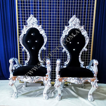 Black and Silver Wedding Chair