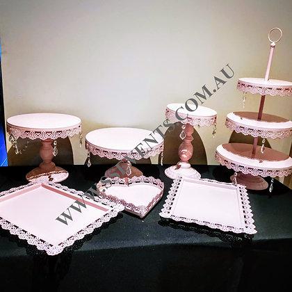 Pink Cake Stand (Set of 7)
