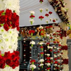 Hindu Wedding - Fresh Flower Mandap Melb