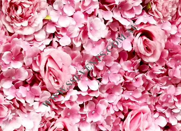 Pink Flower Wall - Square
