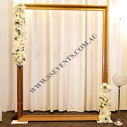 Gold Photobooth Frame Backdrop