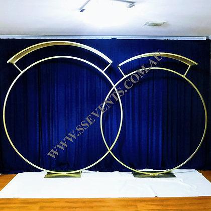 GOLD Wedding Rings Backdrop