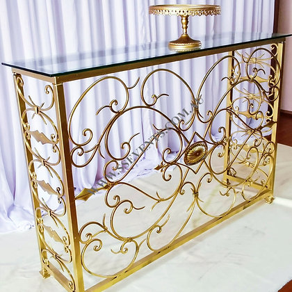 Gold Consol Table