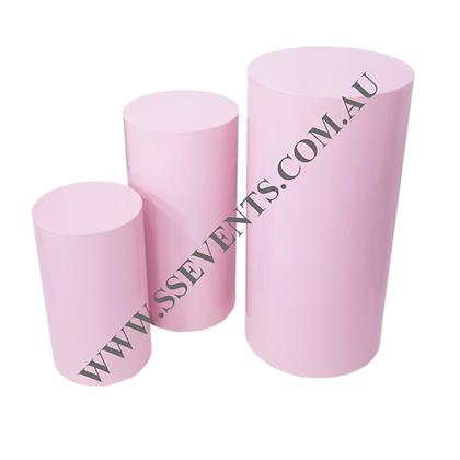 Pastel Pink Round Plinths