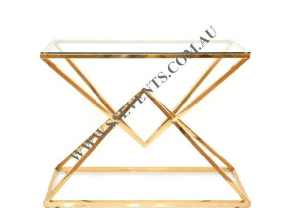 Diamond Console Table