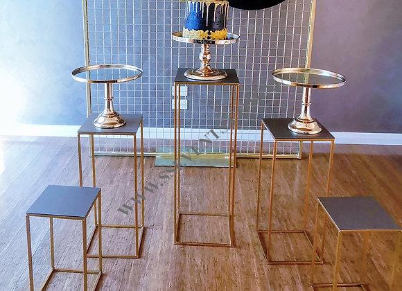 Gold Metal Plinths