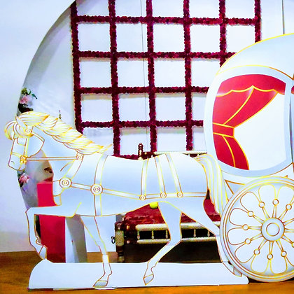 Horse carriage Cutout- Free standing cutouts