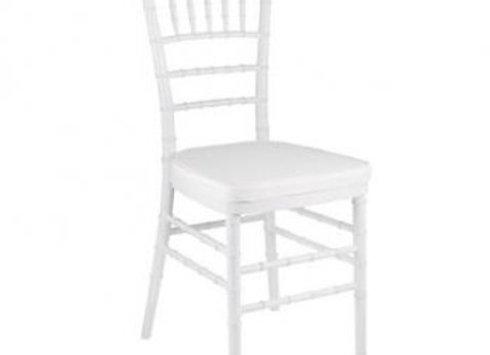 White Tiffany Chair with White cushion