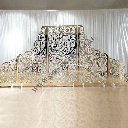 Mirror Gold and White Designer Backdrop