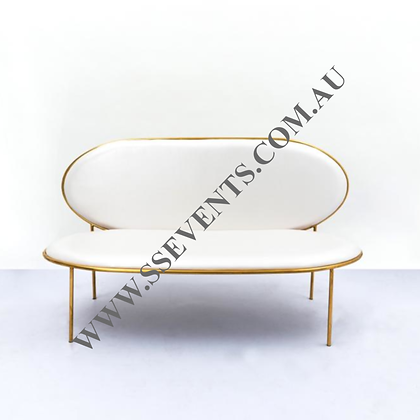Gold Wedding CHAISE Sofa