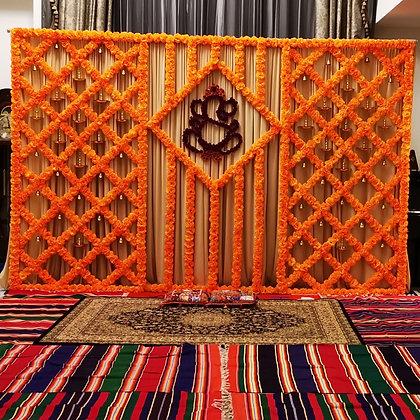 Marigold Backdrop - Orange