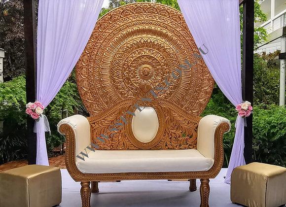 Large Gold Round Backdrop