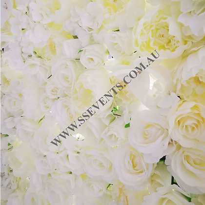 White Flower Wall - Square