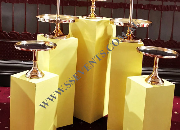 Gold Lux Cake Stands