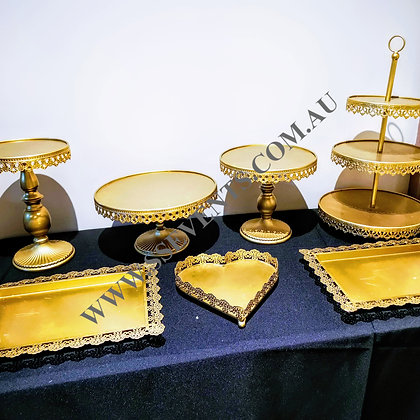 Gold Cake Stand (Set of 7)