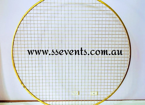 GOLD Round Mesh Screen Backdrop