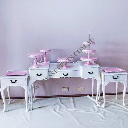 White Dresser Set