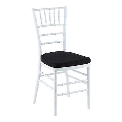 White Tiffany Chair with Black cushion