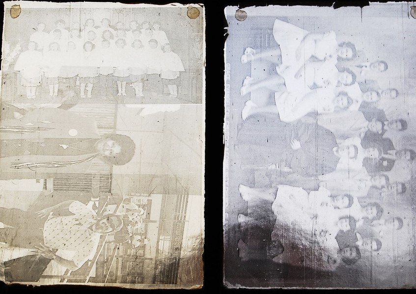 Detail of photo collage
