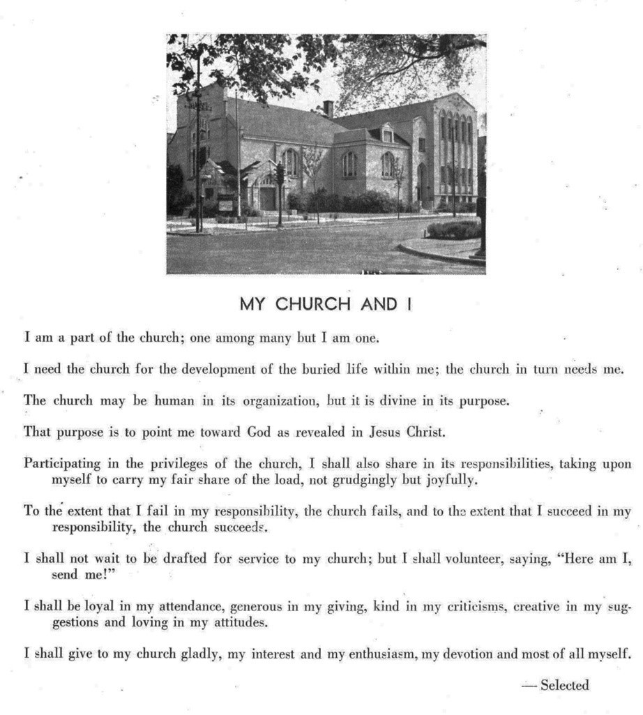 Poem written about Grace Church that was found in the archives