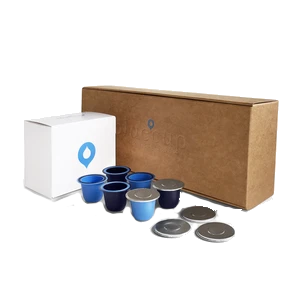Bluecup Reusable Capsules Refill Pack - Cups & Lids