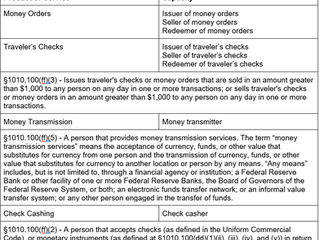 Money Services Business (MSB) Requirements and Registration