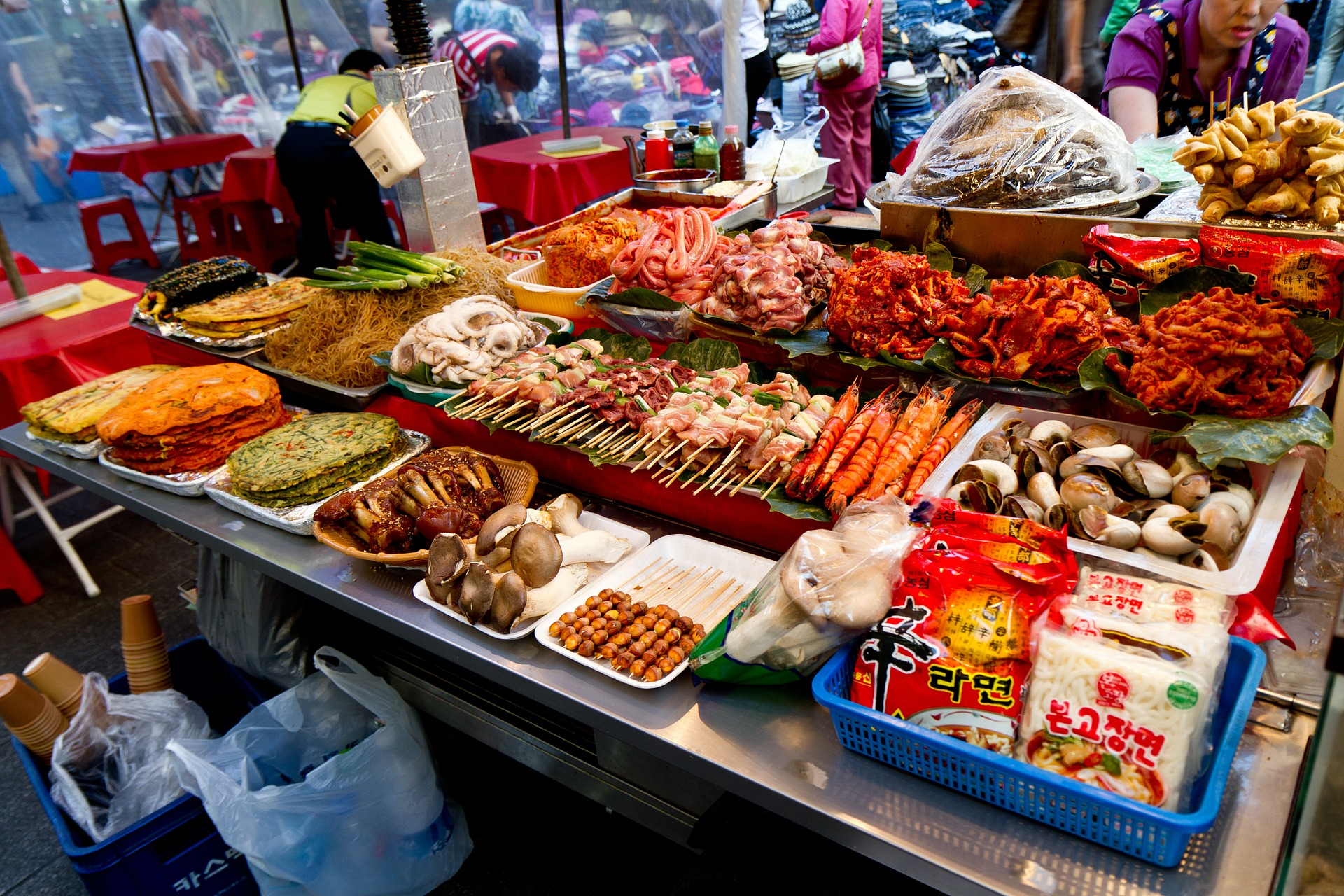 In-Store Korean Food Sampling