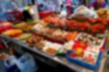 En magasin Korean Food Sampling