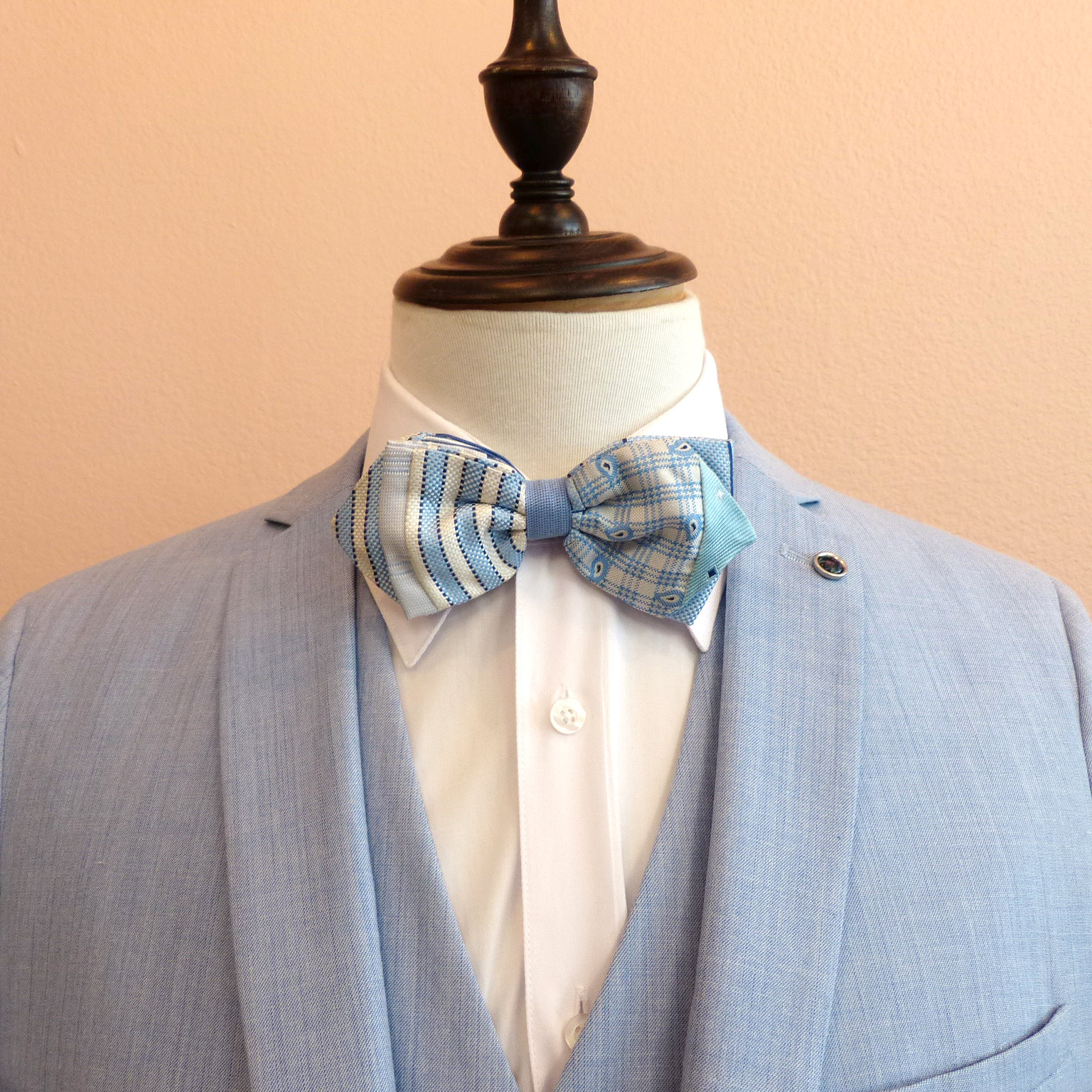 Silk bowtie multi_blue