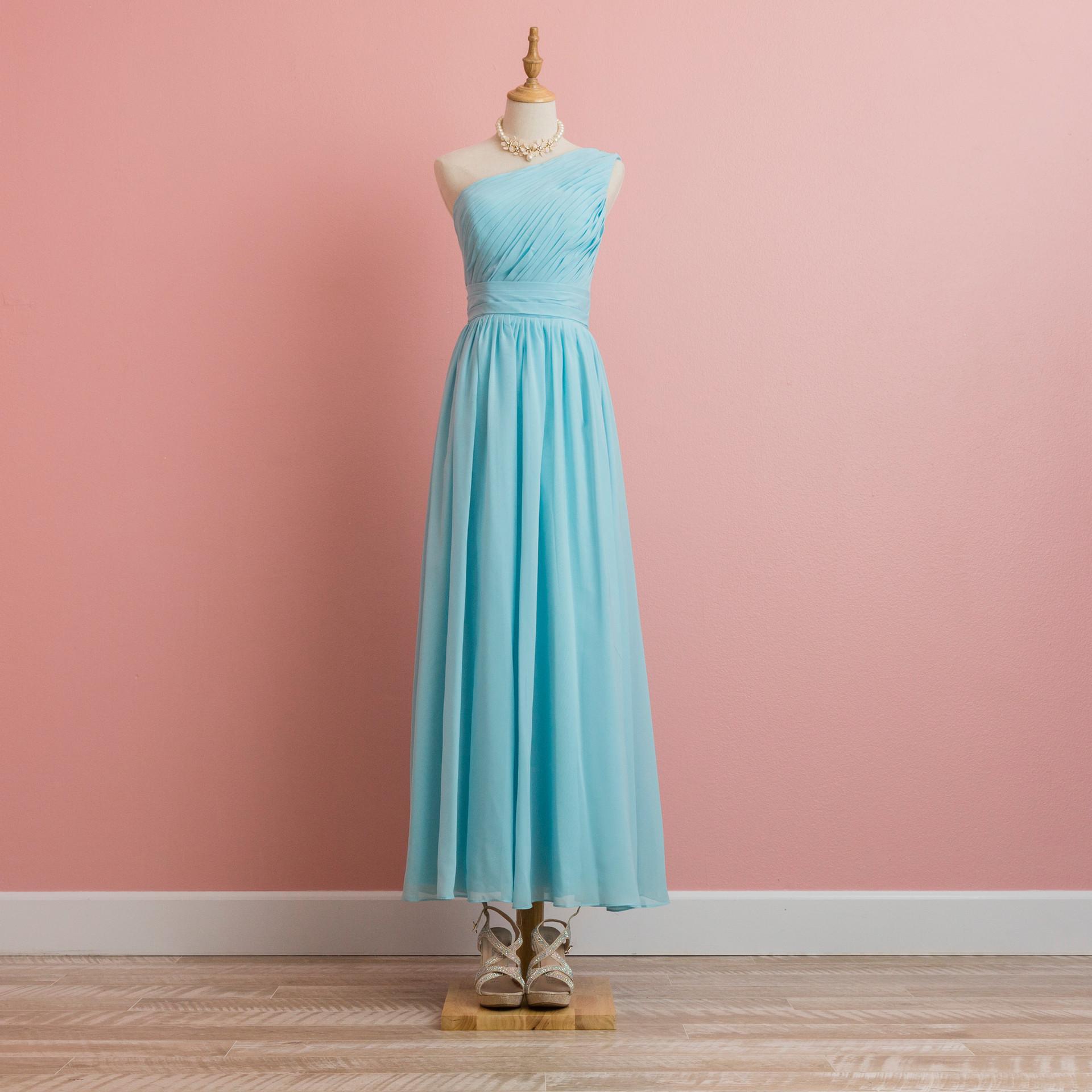 One shoulder dress:BD1299BL0001