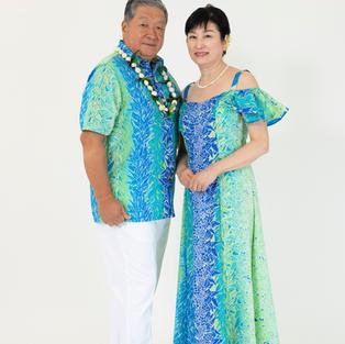 Cold Shoulder Hawiian Dress