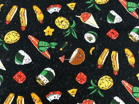 Food Yummy Fabric! Sushi, Spam, Pineapple, Poke!