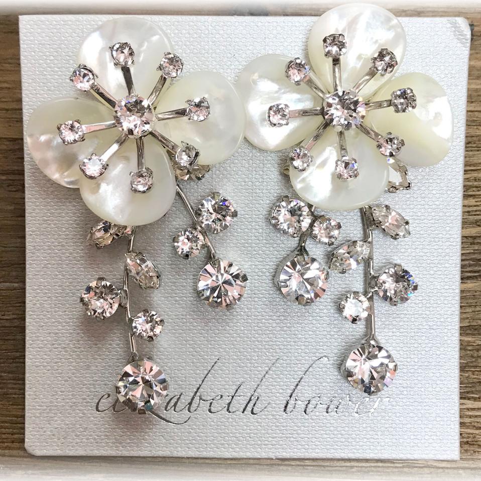flower-earring silver