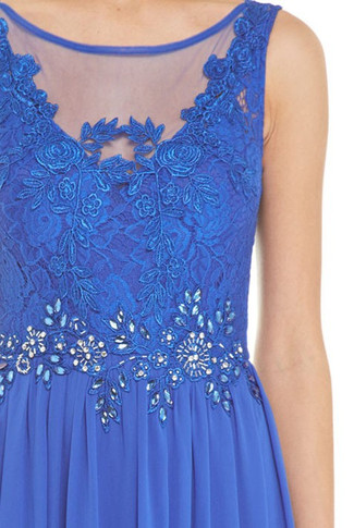 Royal Blue Prom Party Dress