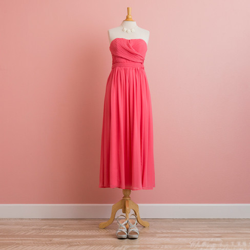 Bare Top Bright Pink Dress