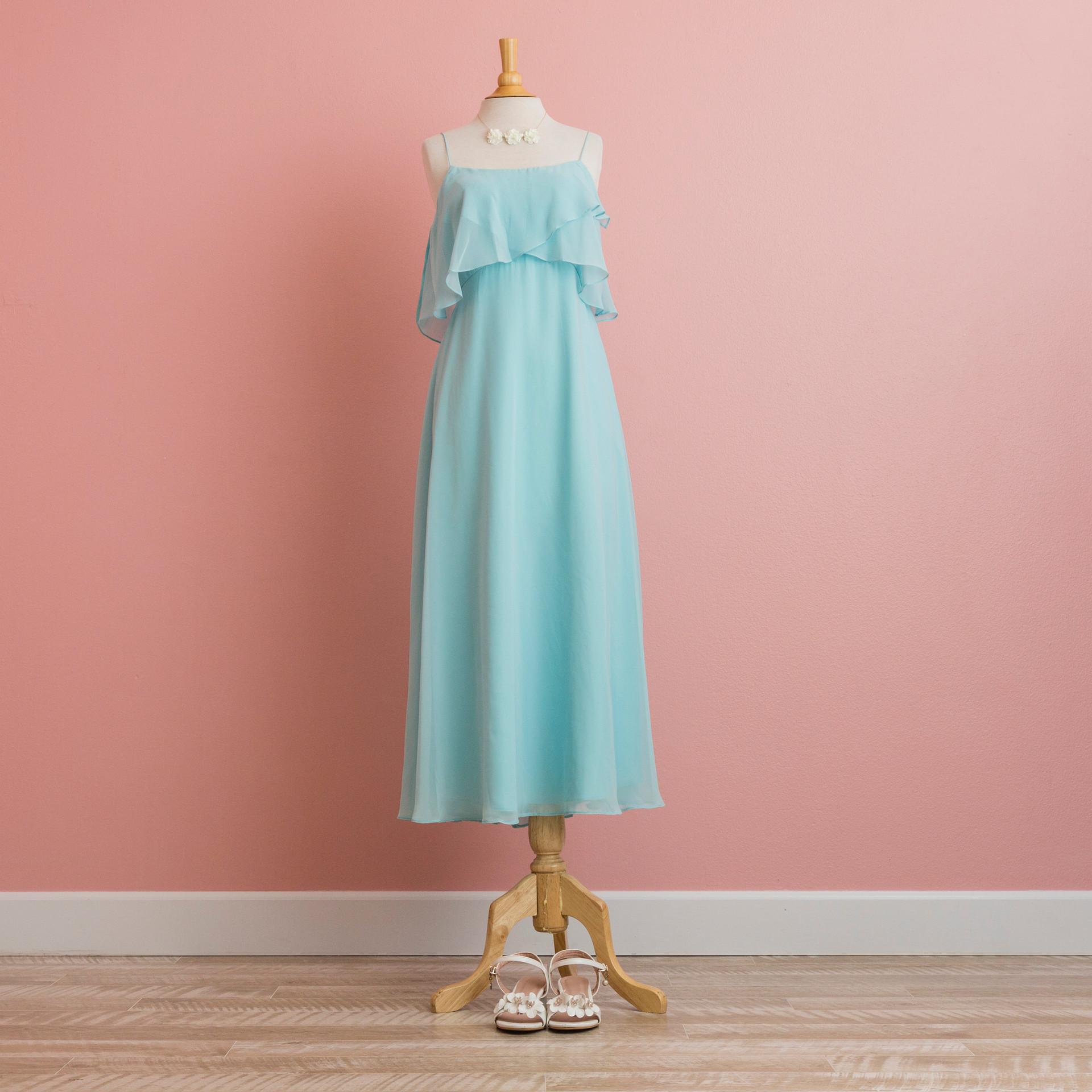 Blue layer dress: BD1004BL