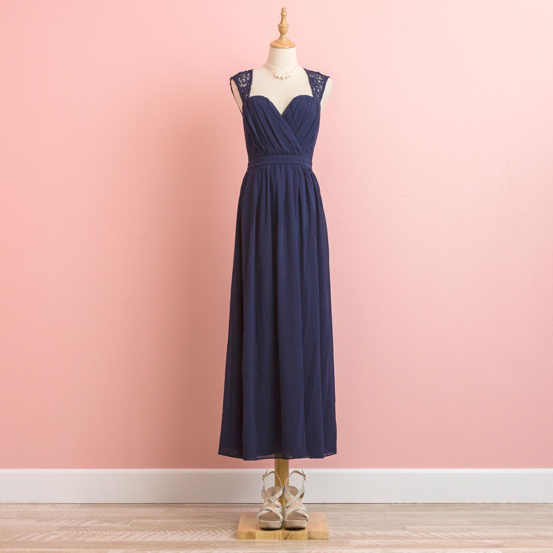 Navy lace dress:BD0908NV