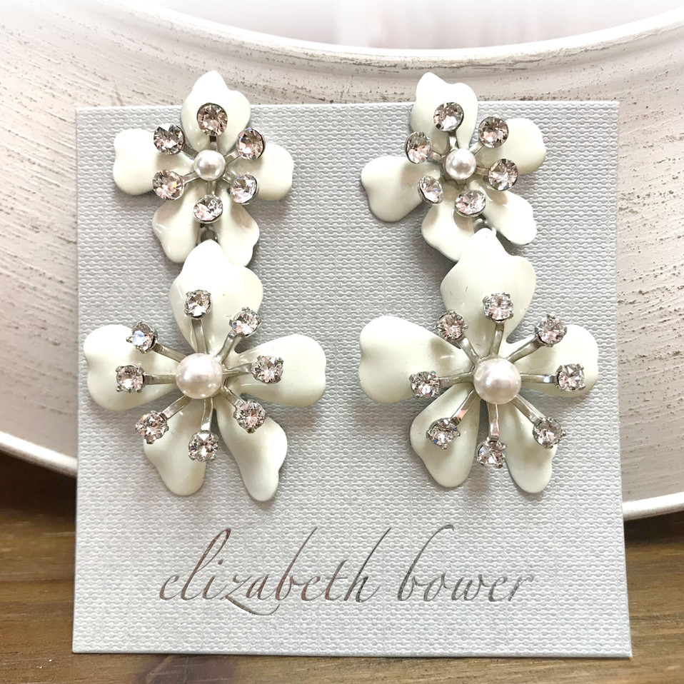 Double flower earring