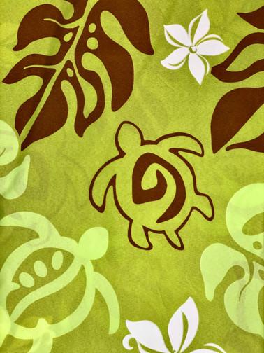 Turtle print fabric