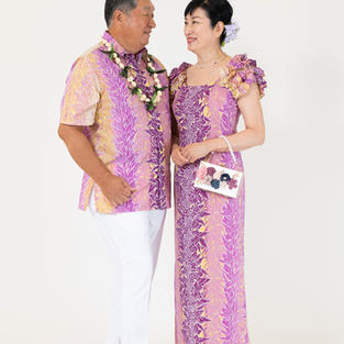 Purple Hawaiian Dress