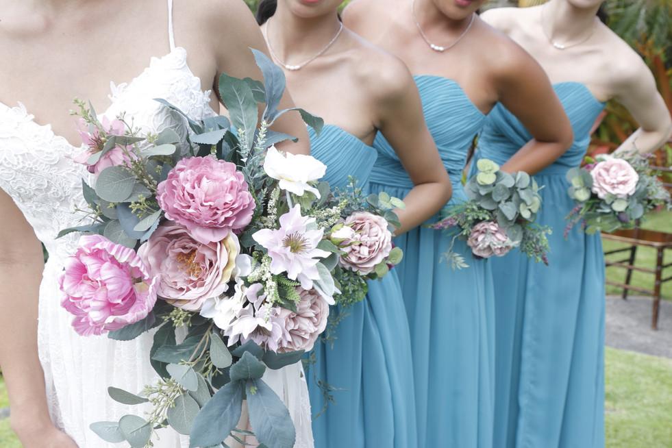Teal Color Baretop Dress