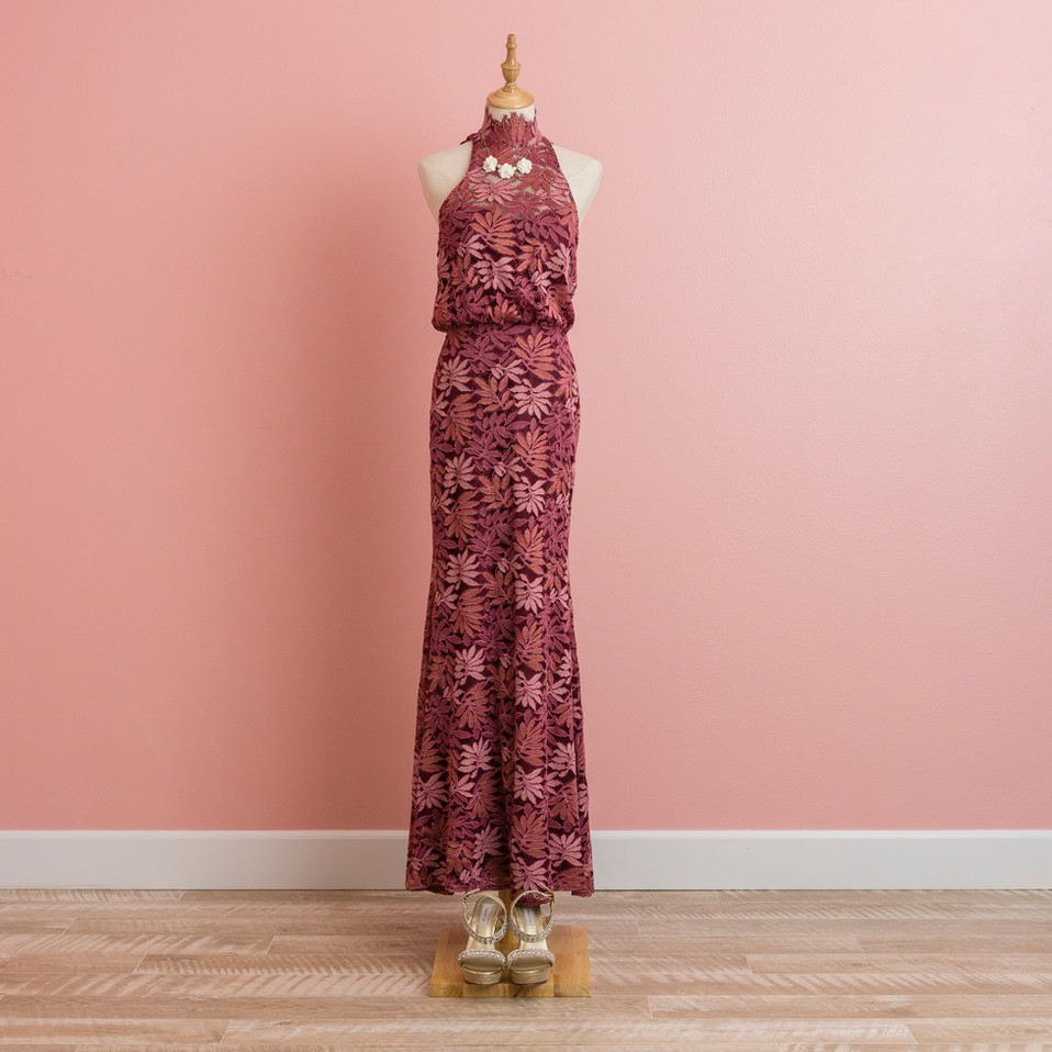 Lace holter dress