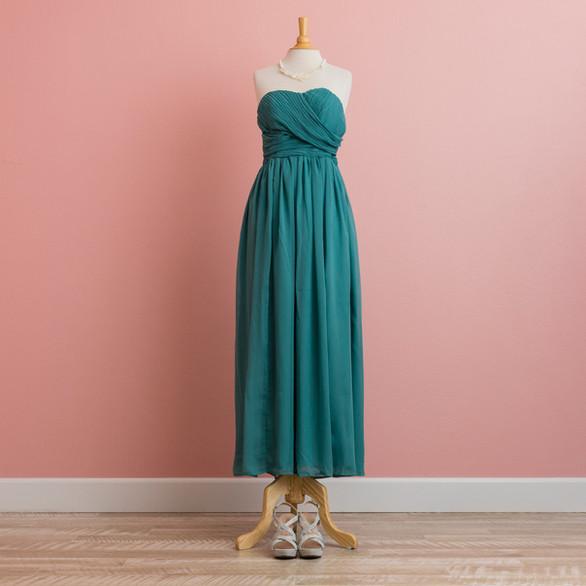 Teal Green Bare-top Dress