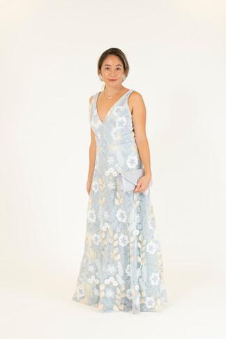 Silver/Gold Flower Dress