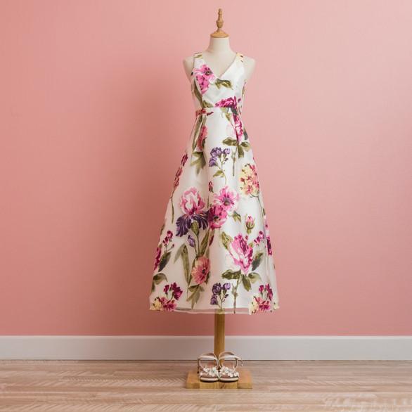 Floral Print Formal Dress