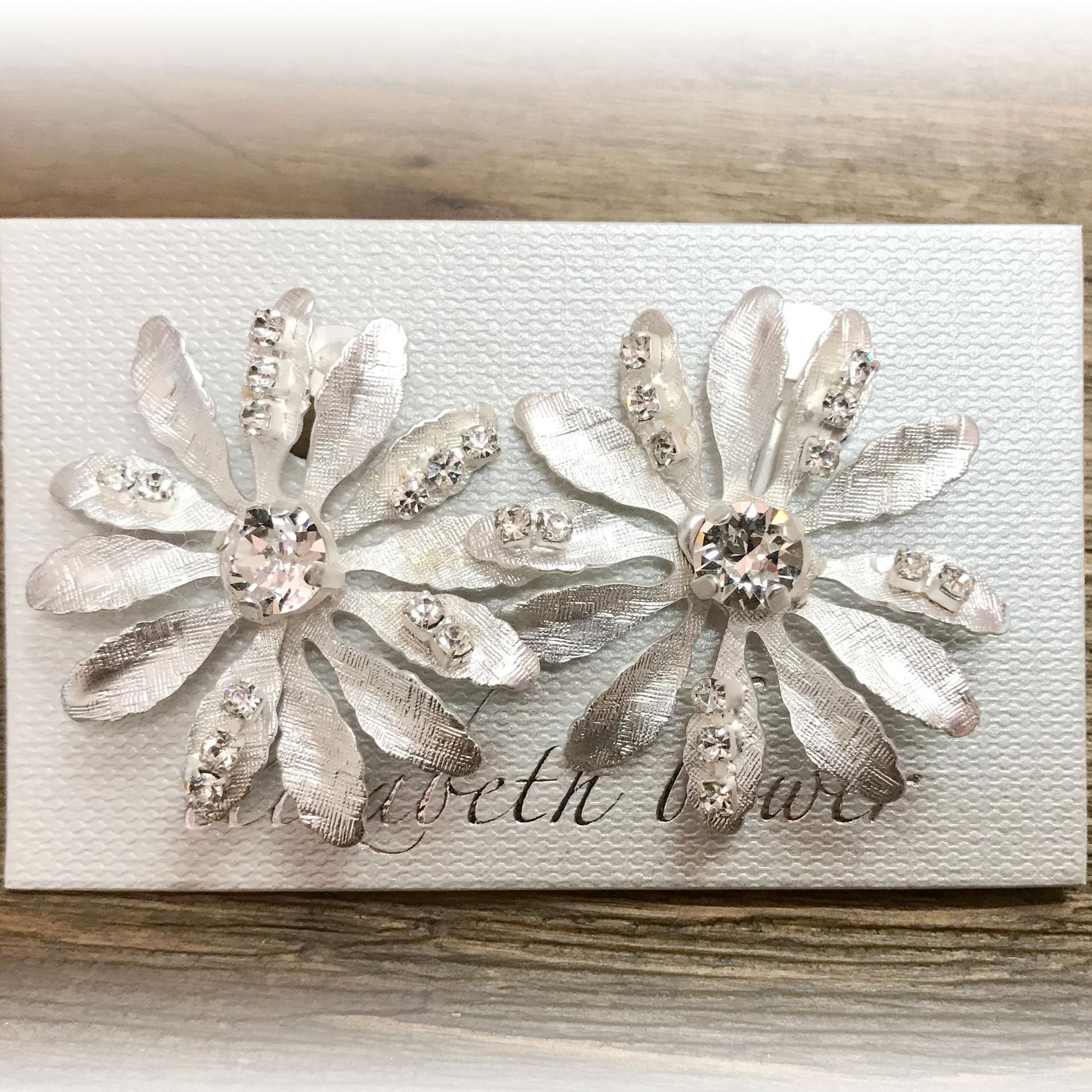 Daisy silver earring