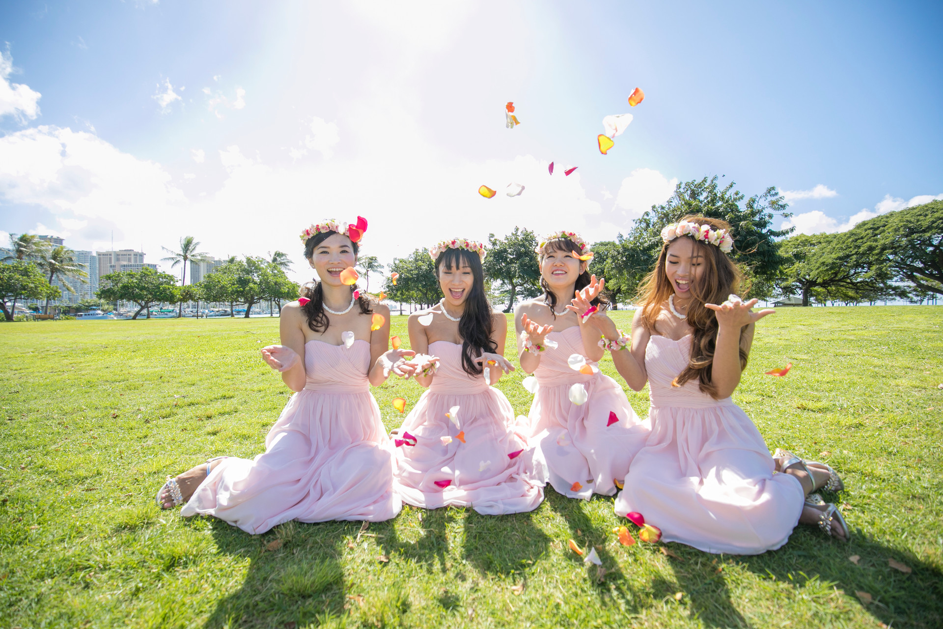 Pastel Pink Bridesmaid Dress